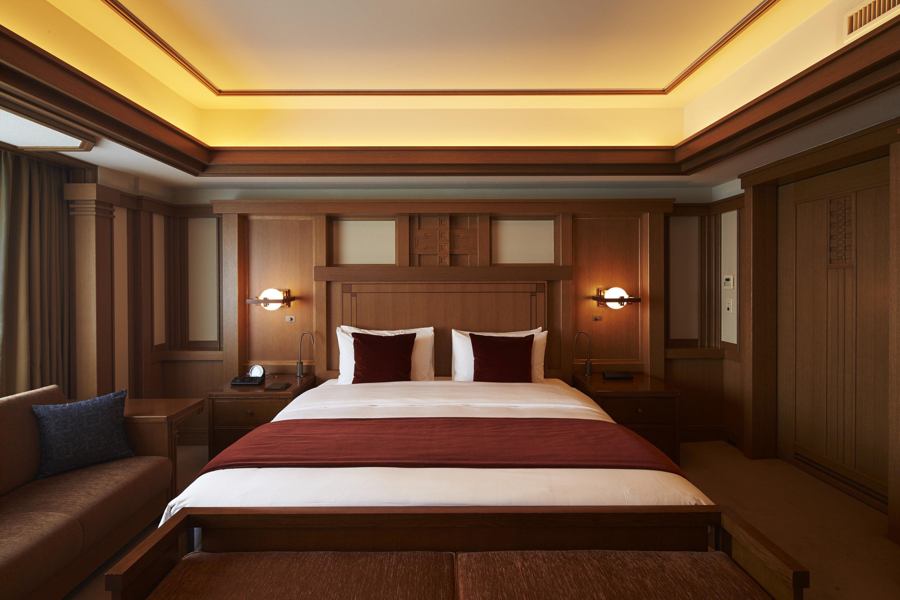Hotels Japan Tokyo bed wall indoor ceiling room floor Bedroom hotel Suite interior design estate yacht billiard room recreation room conference hall