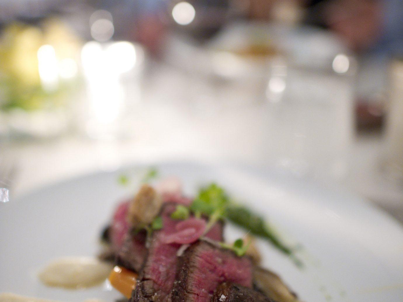 Trip Ideas plate food indoor dish restaurant meal meat dinner white cuisine sense steak produce dessert close piece de resistance