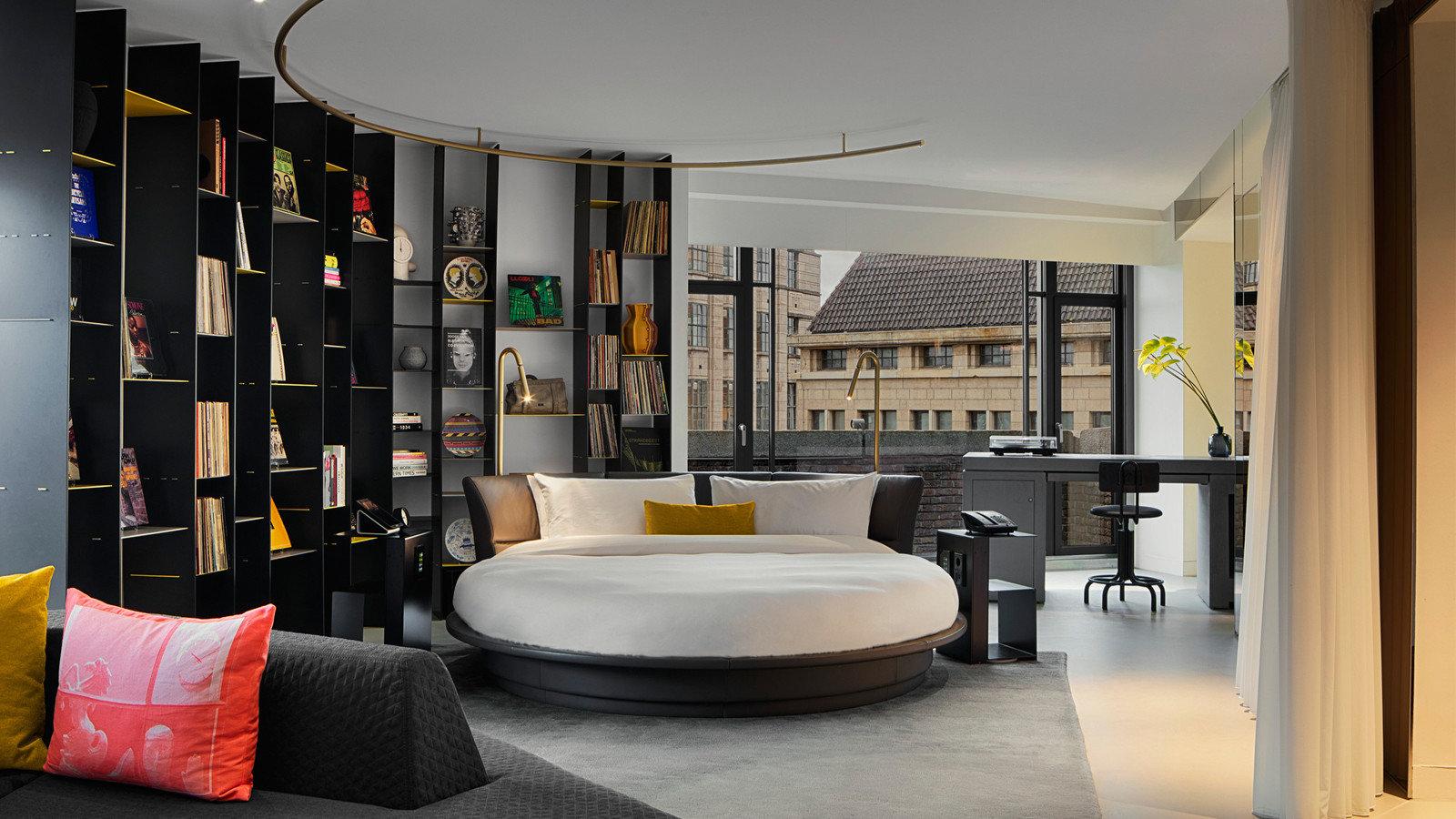 Amsterdam Hotels The Netherlands indoor floor room interior design furniture ceiling interior designer living room Suite loft