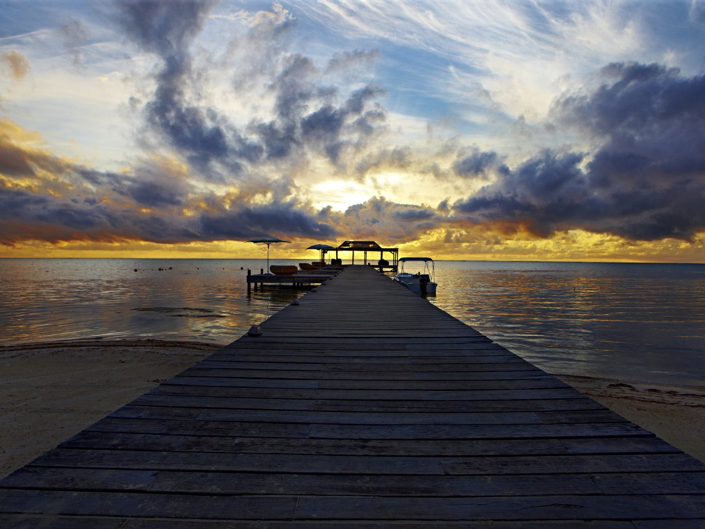 Sunset In Belize