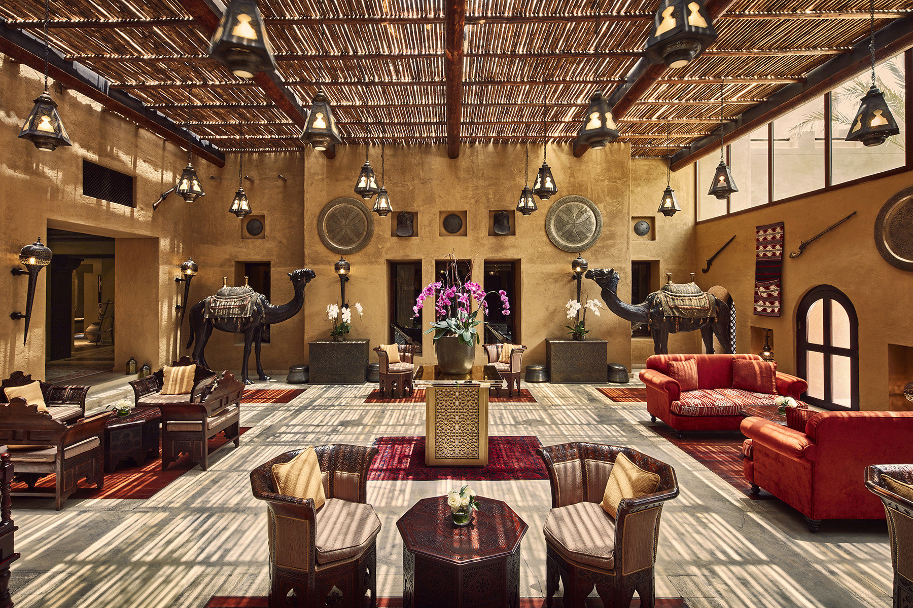 Dubai Hotels Luxury Travel Middle East indoor room interior design living room Lobby restaurant function hall furniture several