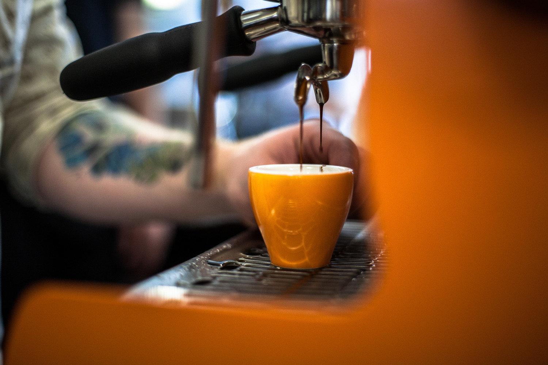 Offbeat indoor Drink cup orange coffee espresso distilled beverage beer
