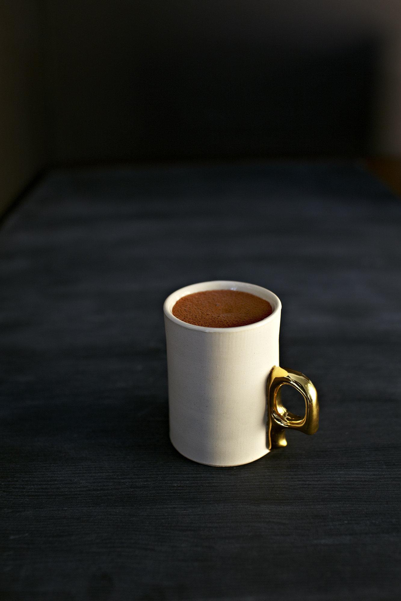 Food + Drink cup coffee sitting indoor coffee cup Drink beverage lighting caffeine espresso shape ceramic drinkware