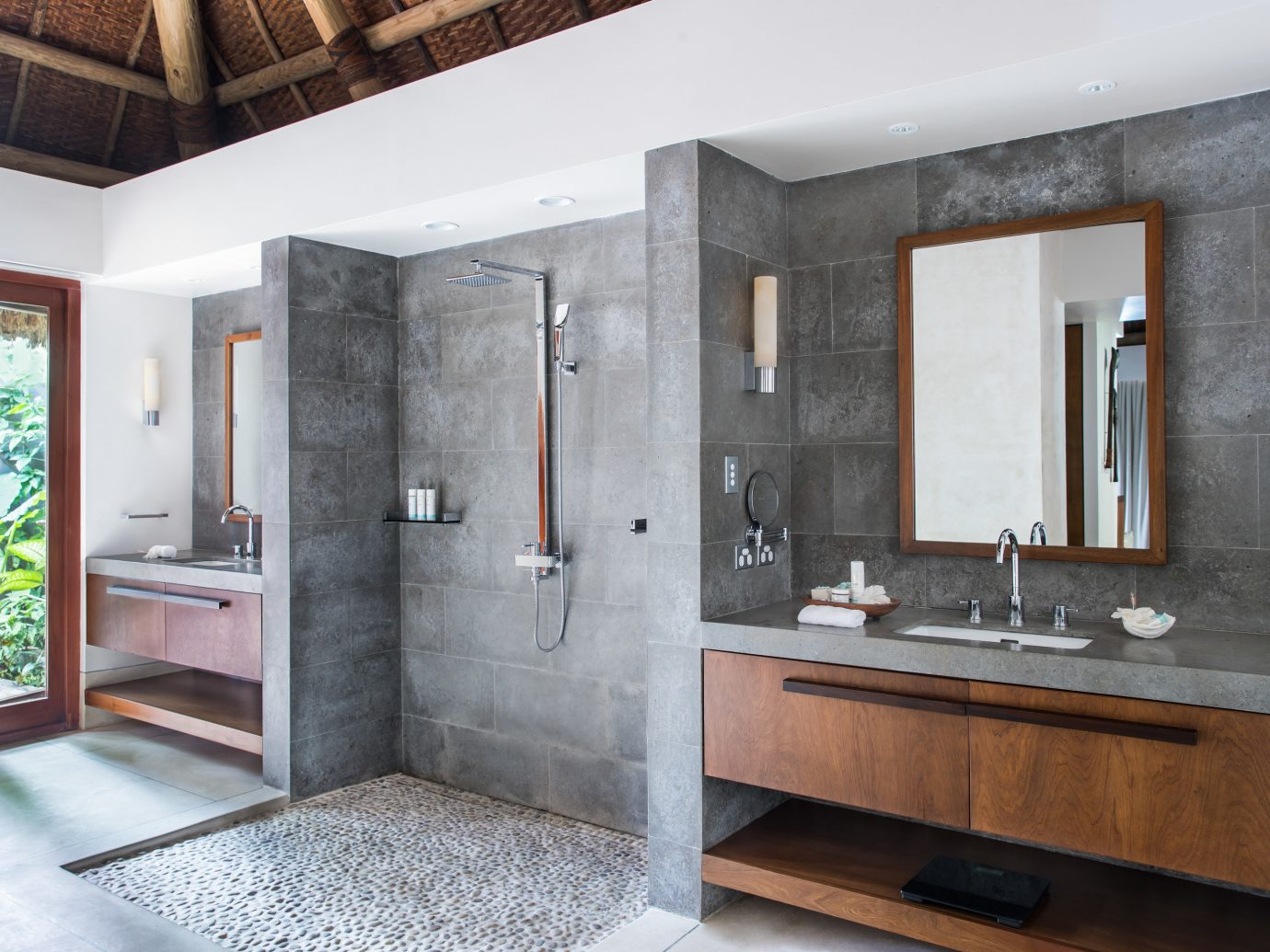 All-Inclusive Resorts Hotels Luxury Travel indoor floor wall bathroom ceiling room interior design sink interior designer plumbing fixture Modern tub Bath bathtub stone
