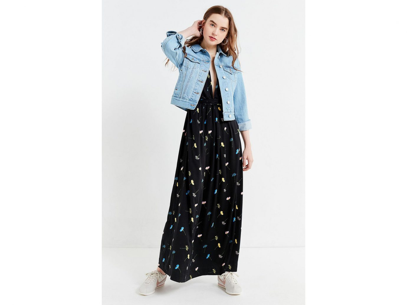 Style + Design Travel Shop person clothing indoor fashion model jeans denim day dress fashion pattern dress posing trousers one piece garment