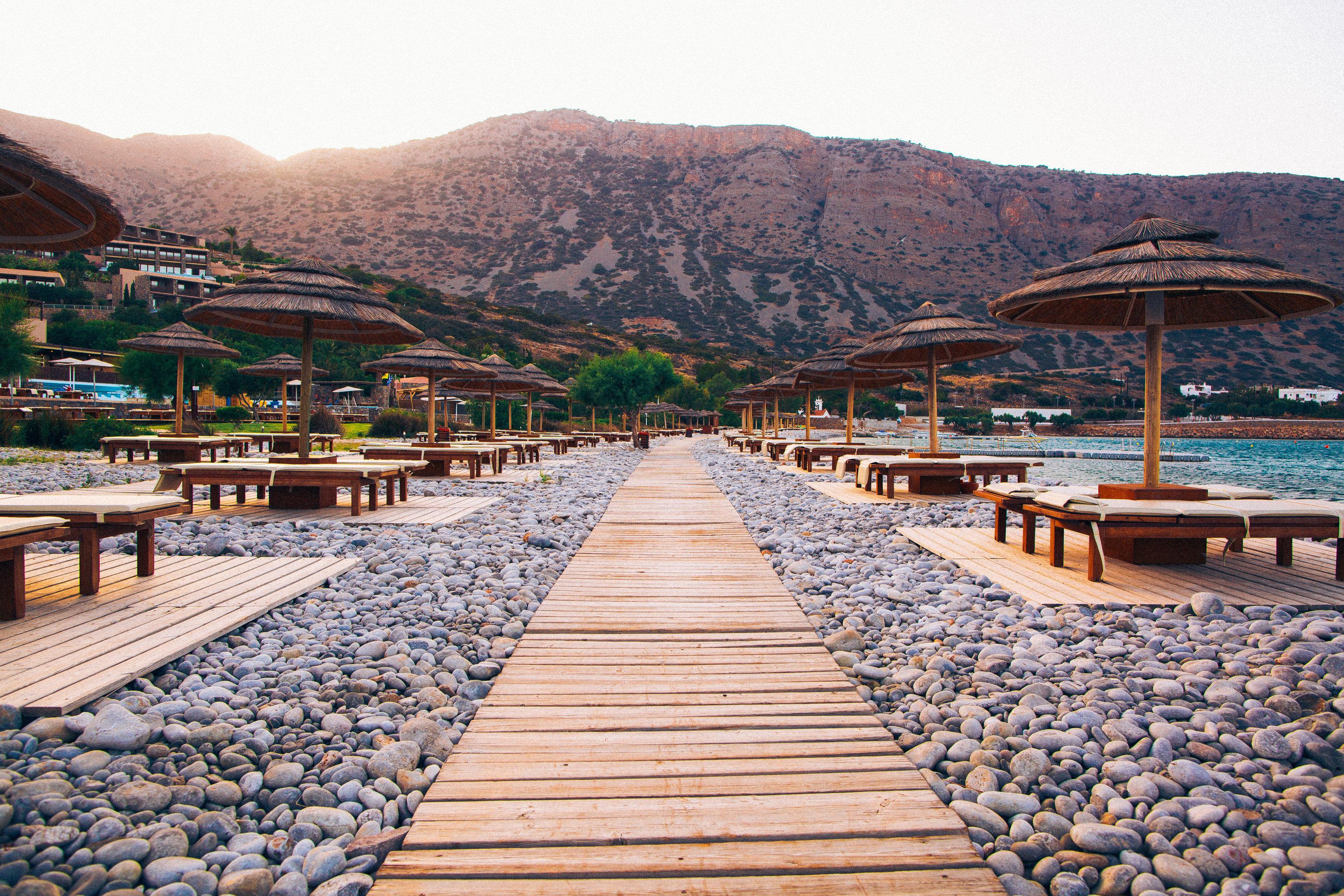 Hotels Romance mountain ground outdoor sky walkway Town Sea vacation Coast boardwalk landscape Beach Lake set