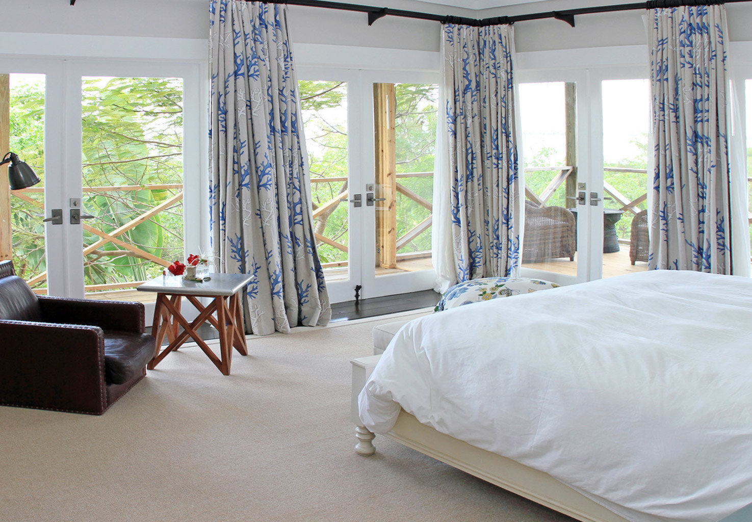 Beachfront Bedroom Eco Hotels Living Luxury Resort Romance indoor window room floor property bed chair interior design home cottage estate real estate curtain textile furniture apartment