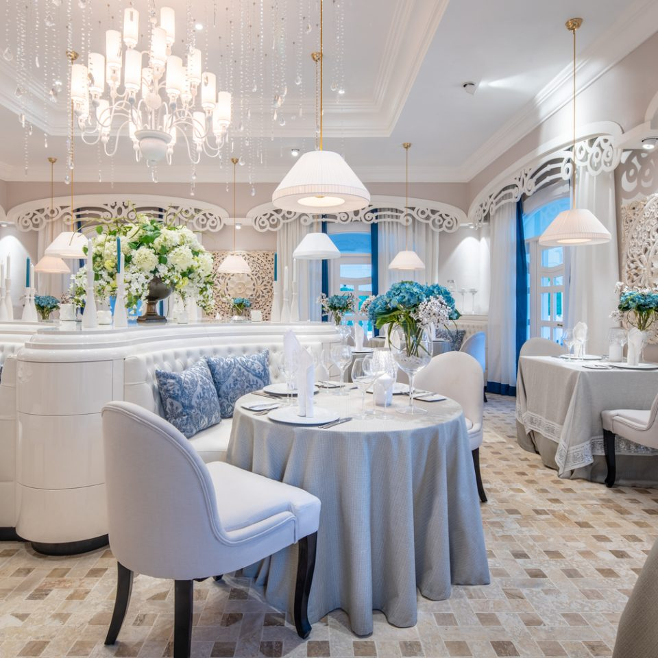 ivory white restaurant interior
