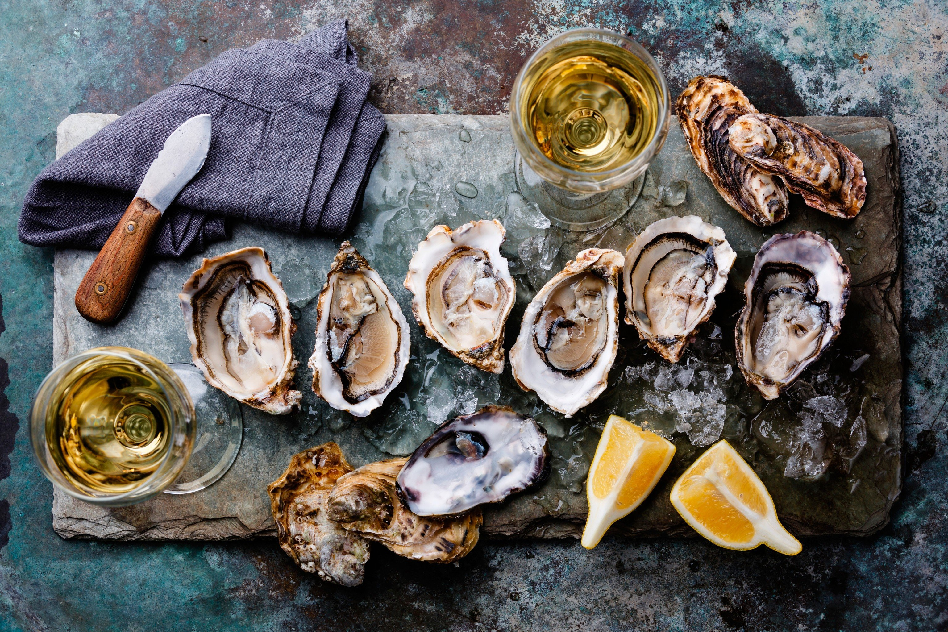 Jetsetter Guides food Seafood painting wood invertebrate still life carving material clams oysters mussels and scallops several
