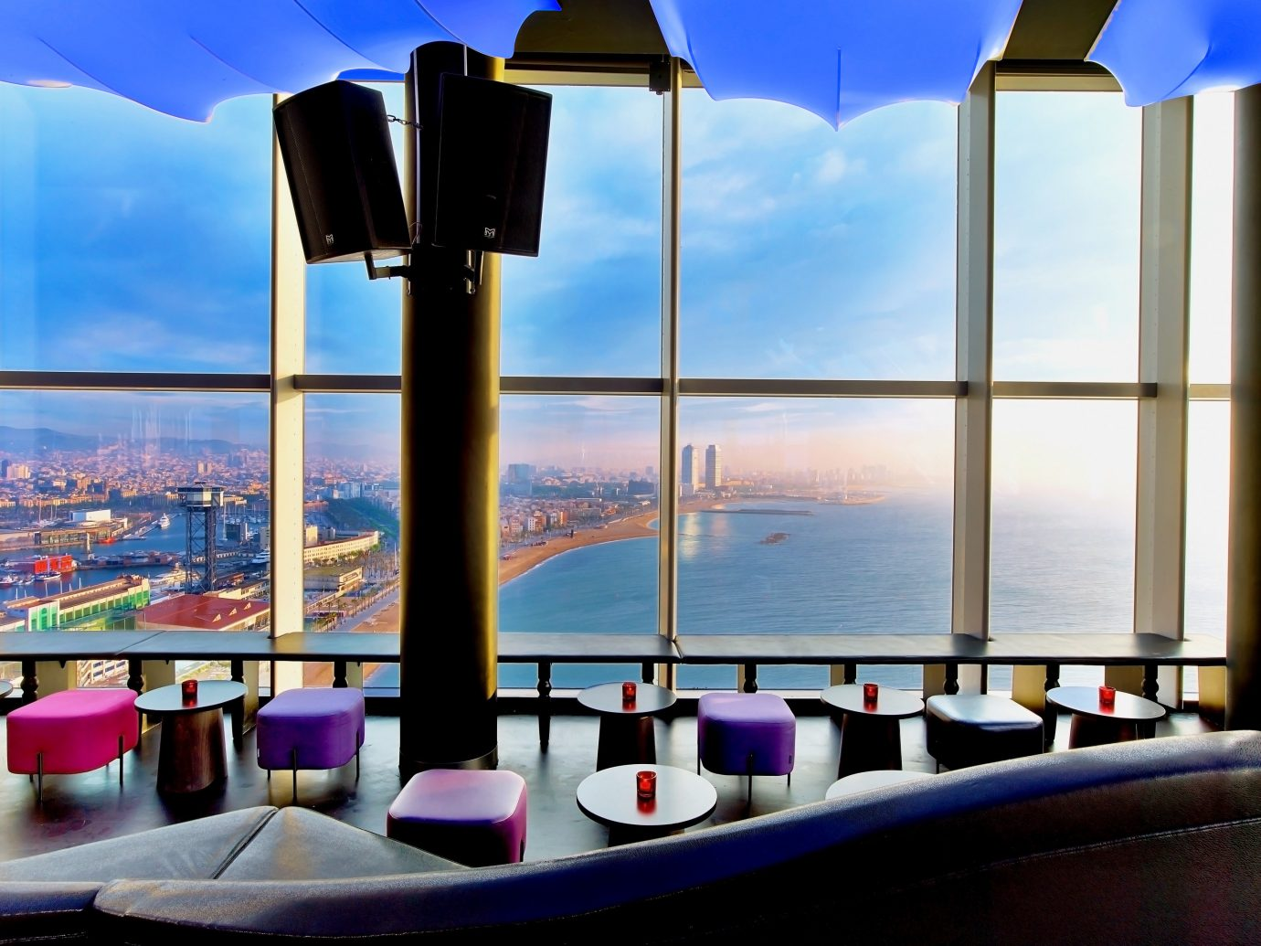 Hotels sky window restaurant Resort vacation lighting interior design overlooking