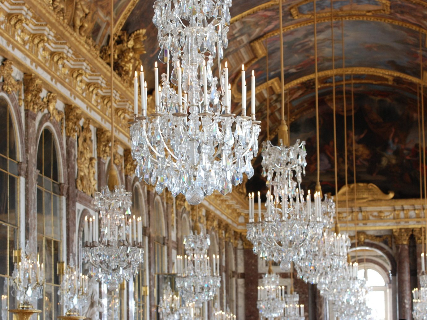 Offbeat indoor building palace chandelier lighting light fixture place of worship cathedral column altar