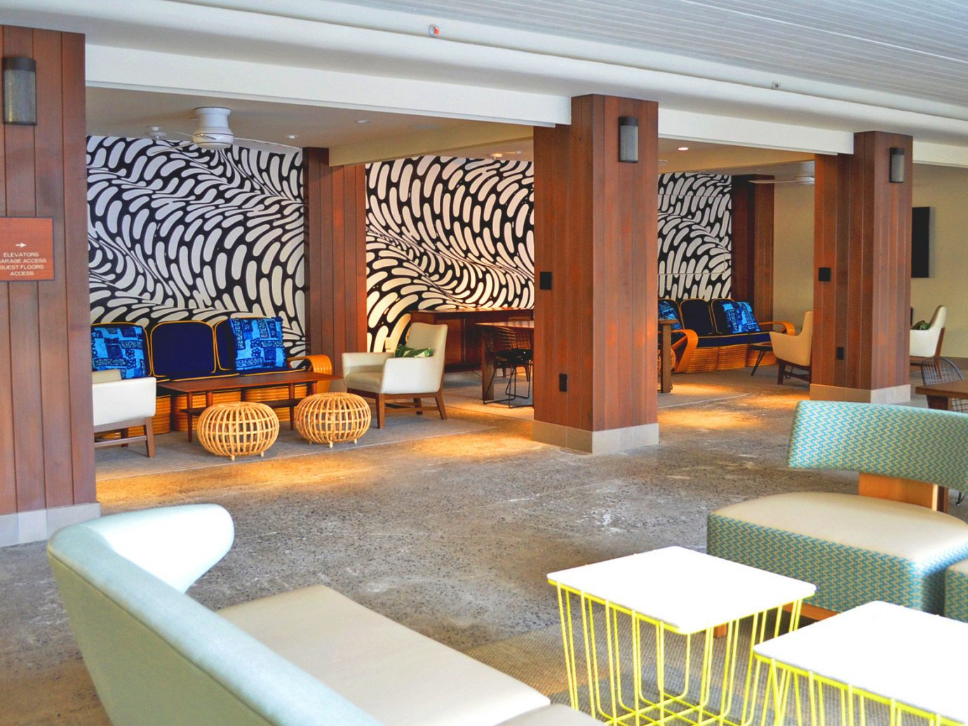 ambient lighting Boutique Boutique Hotels chic Hawaii Honolulu Hotels Lobby Lounge Luxury nautical sophisticated Style + Design stylish floor indoor Living property room furniture estate condominium interior design home living room Design real estate Resort dining room Villa cottage area