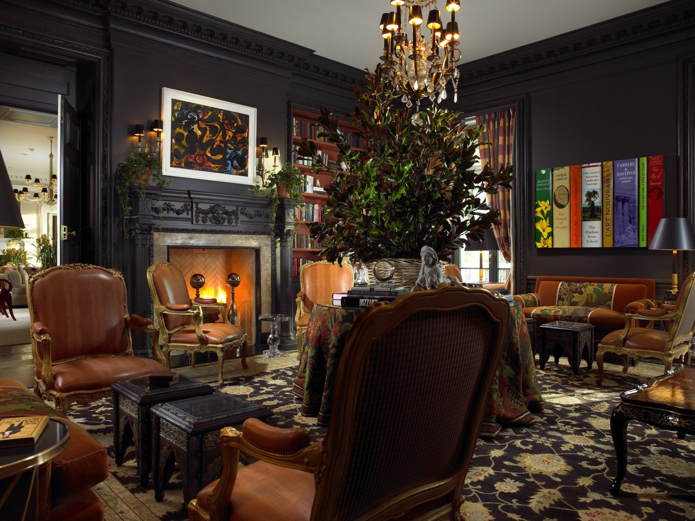 Hotels New York Romantic Hotels indoor room Living wall floor living room interior design window ceiling home Fireplace dining room furniture decorated