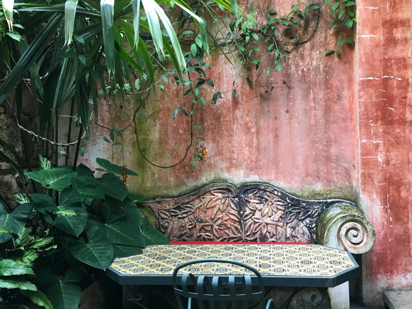 Hotels Luxury Travel Trip Ideas Garden water feature yard backyard flower fountain stone plant