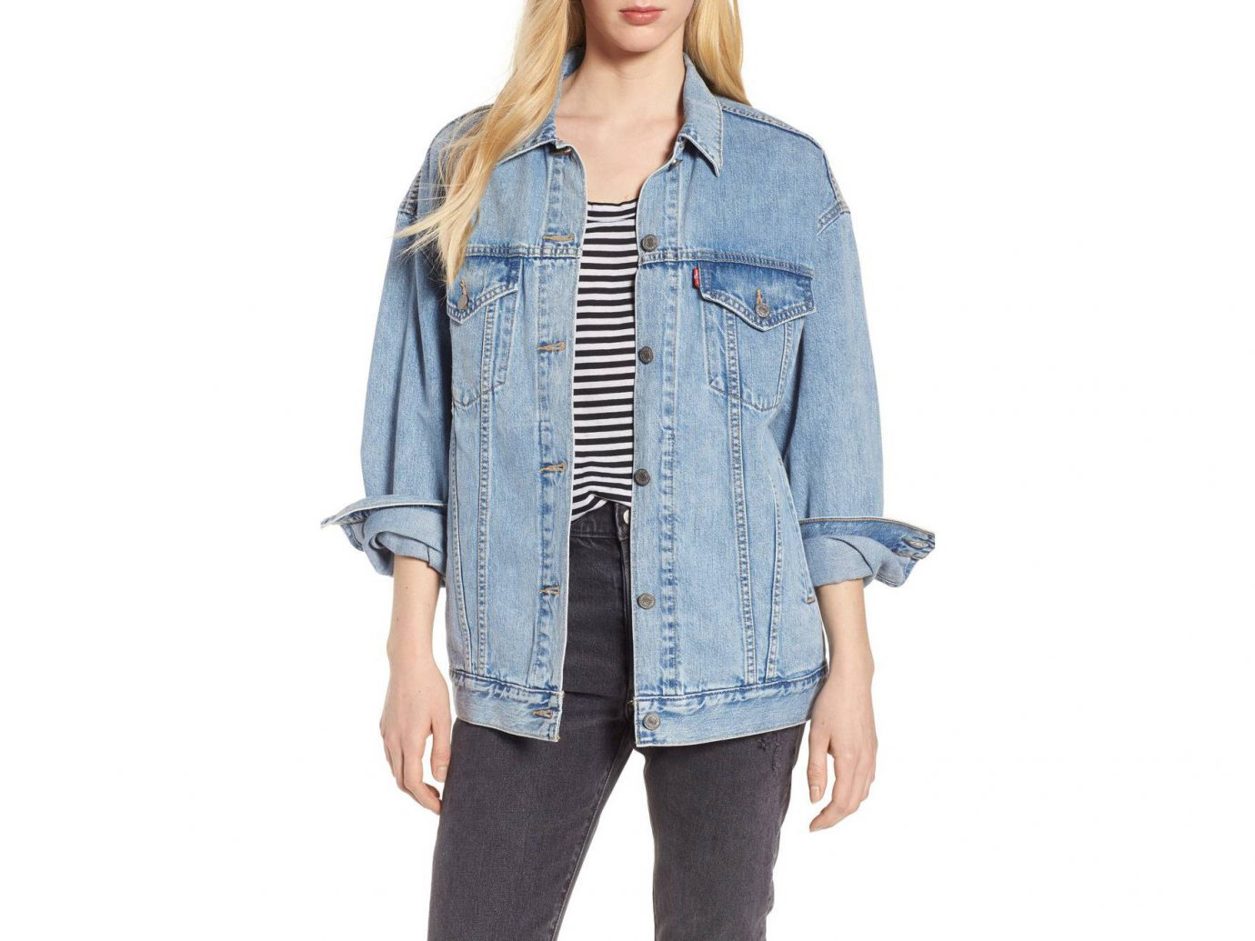 Style + Design Travel Shop person clothing standing denim jeans shoulder sleeve wearing posing jacket button