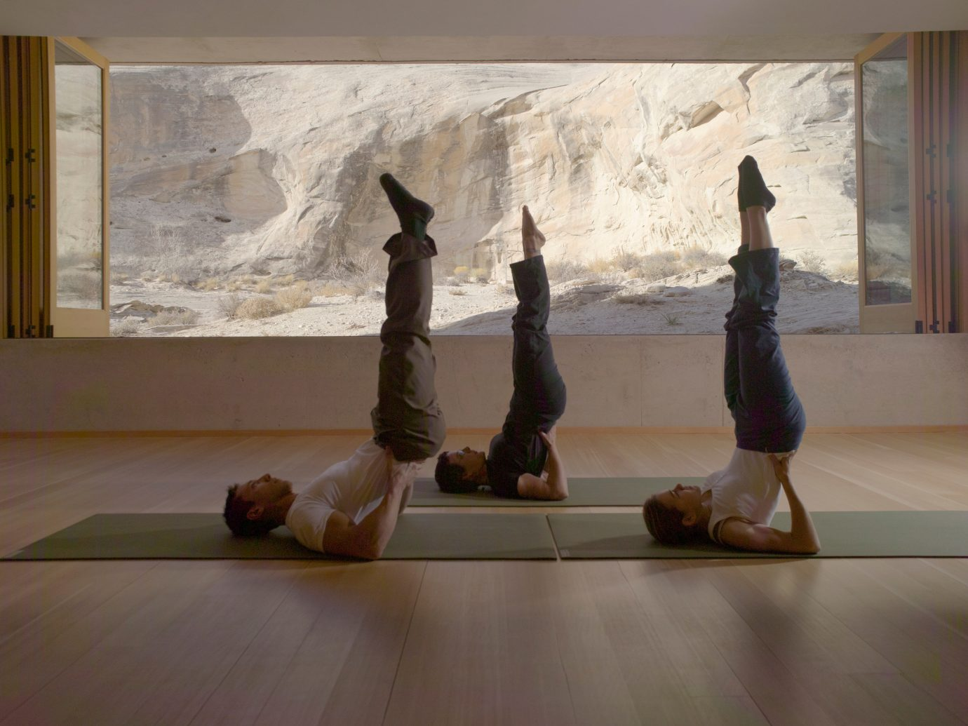 Trip Ideas wall indoor window sports physical fitness human positions performance art yoga Fireplace