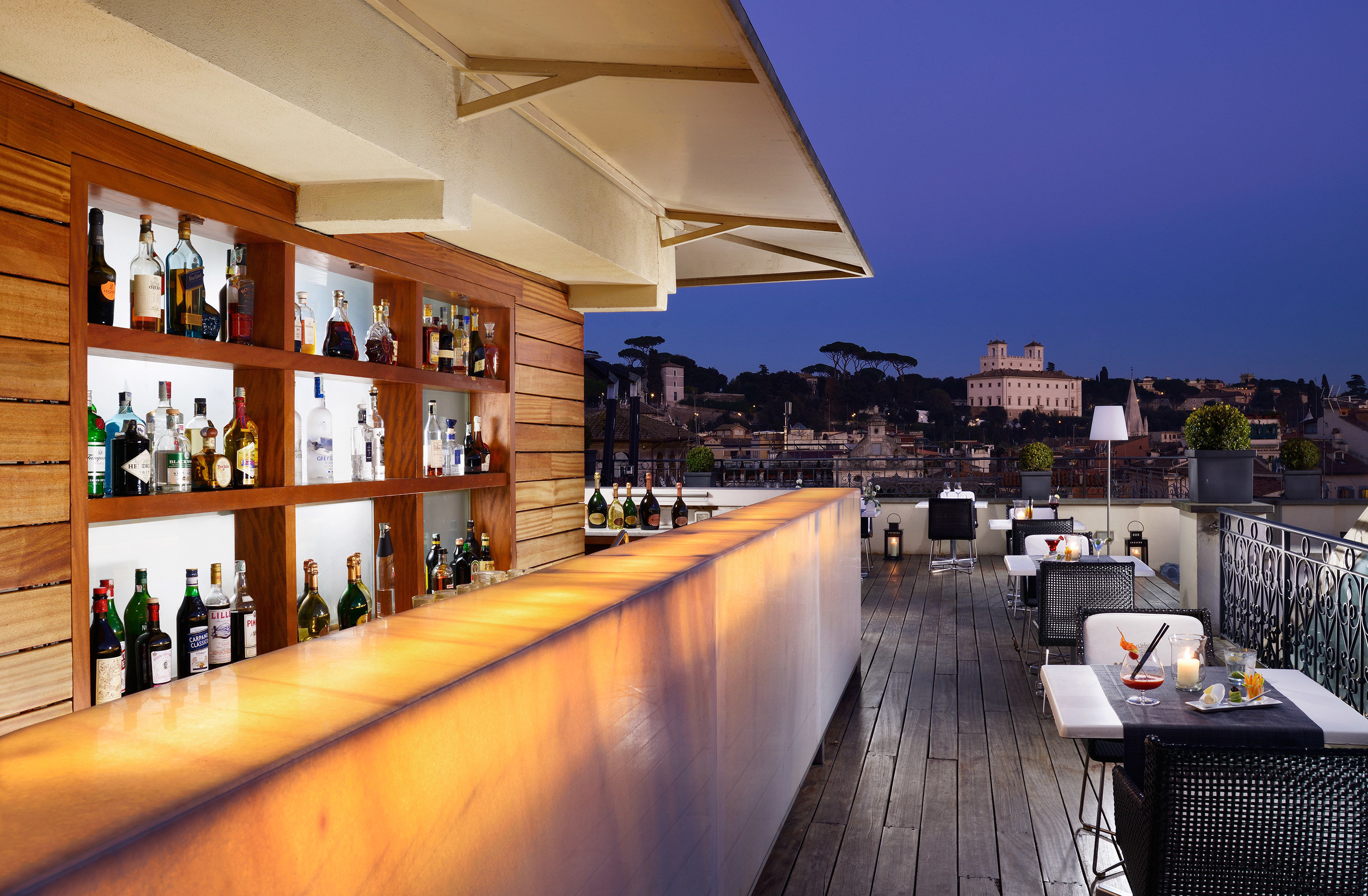 Bar Boutique Hotels City Dining Drink Eat Italy Luxury Travel Rome Rooftop Floor