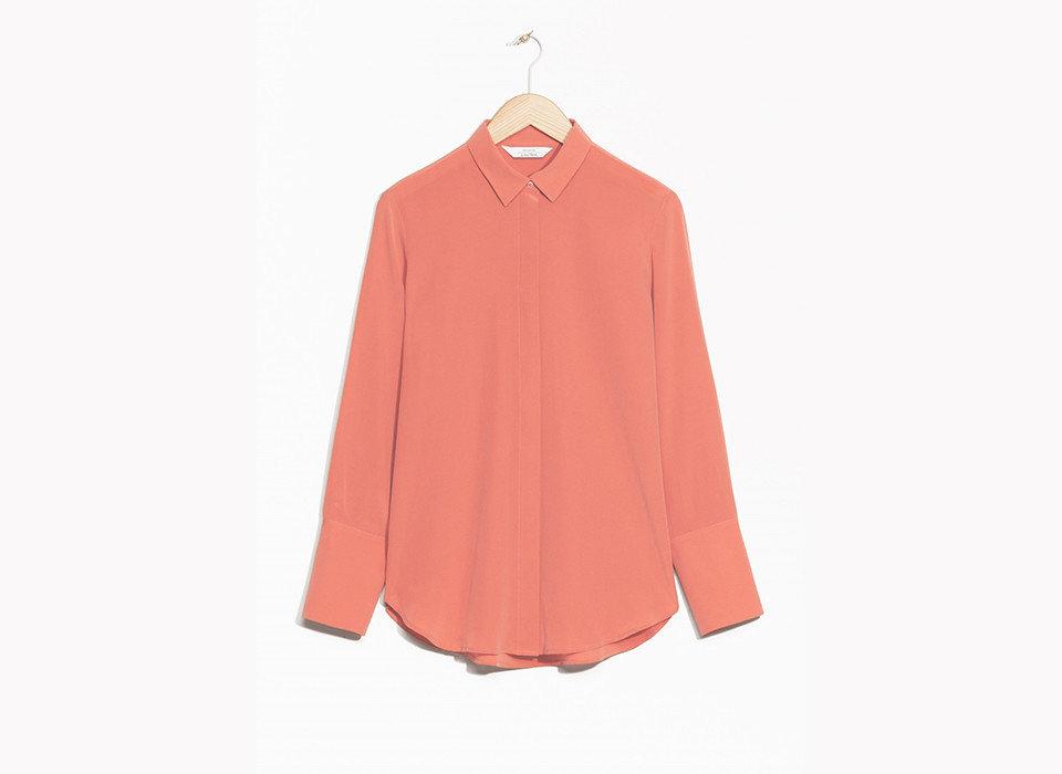 Style + Design Travel Shop clothing pink collar sleeve shoulder peach blouse neck button clothes hanger shirt