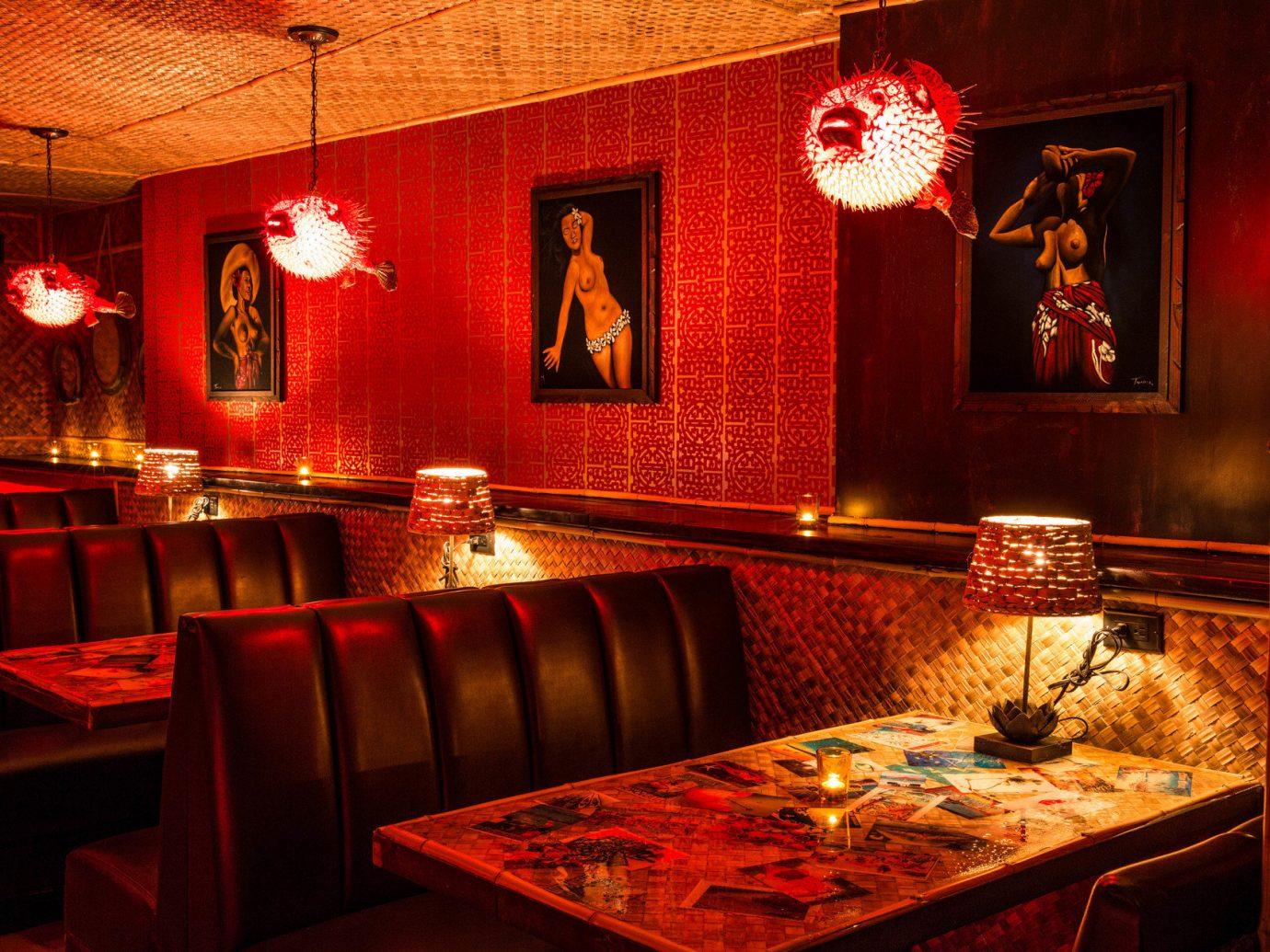 Jetsetter Guides Road Trips Trip Ideas Weekend Getaways indoor room red restaurant interior design Bar recreation room decorated