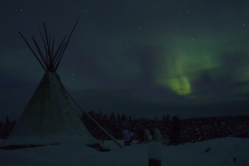 Health + Wellness Meditation Retreats Offbeat tepee outdoor aurora building night atmosphere darkness dark day Night Sky