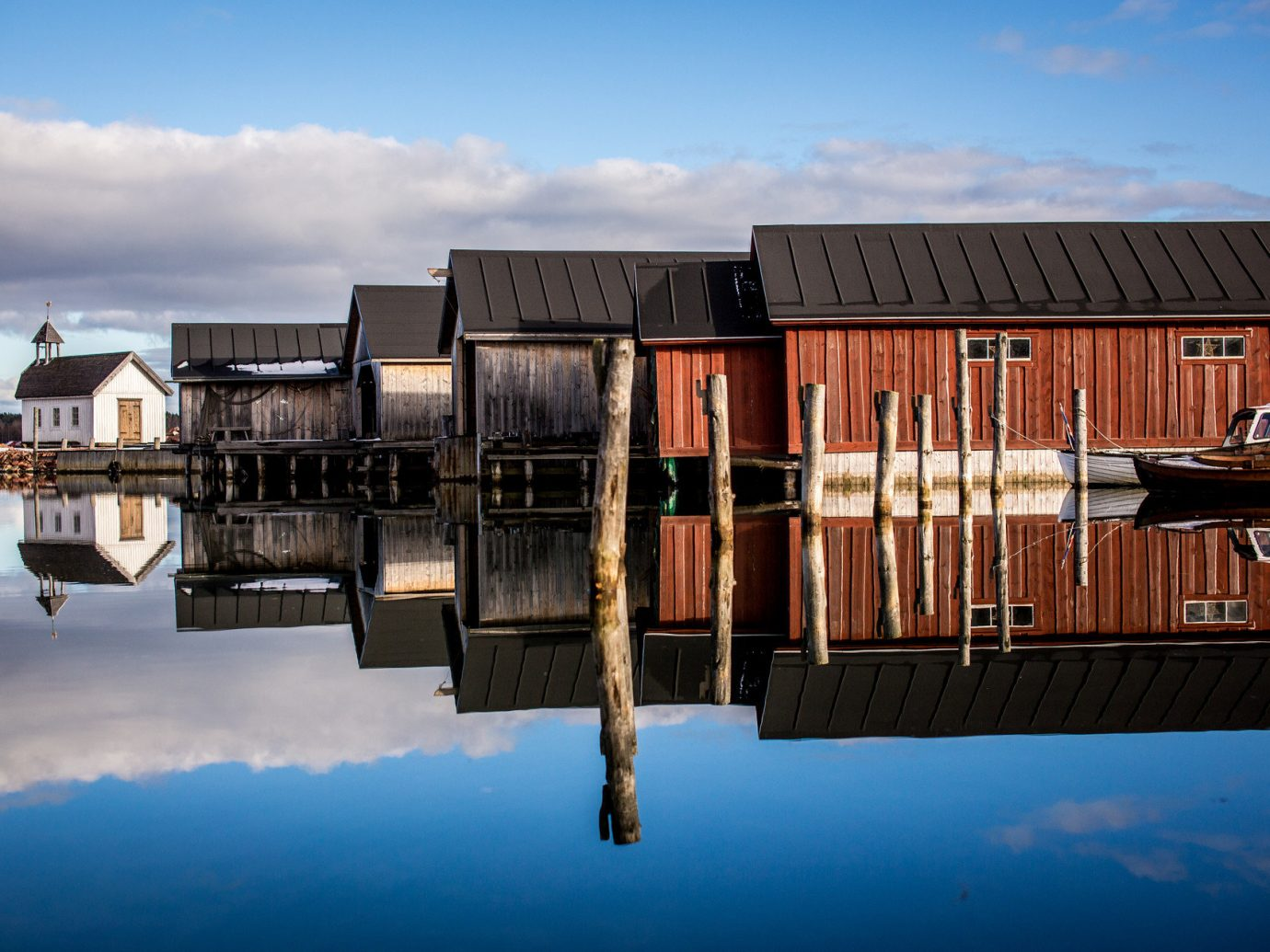 Finland Trip Ideas sky outdoor reflection house Architecture evening dock wood facade