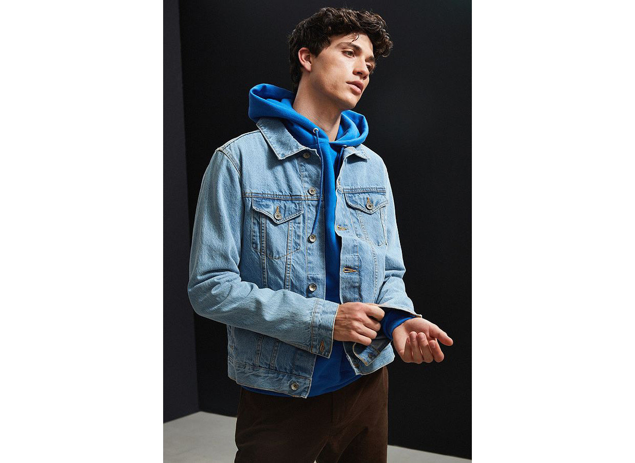 Style + Design Travel Shop person standing denim hood jacket outerwear sleeve hoodie jeans male