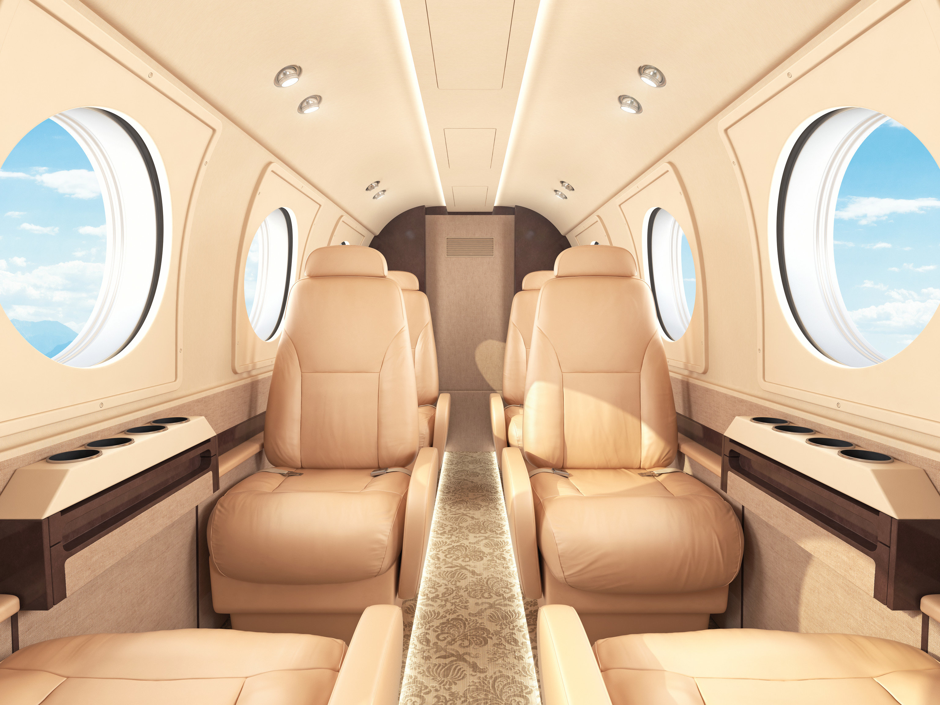 Flights Travel Tips sofa indoor Cabin airline air travel vehicle aircraft cabin scene business jet aviation furniture