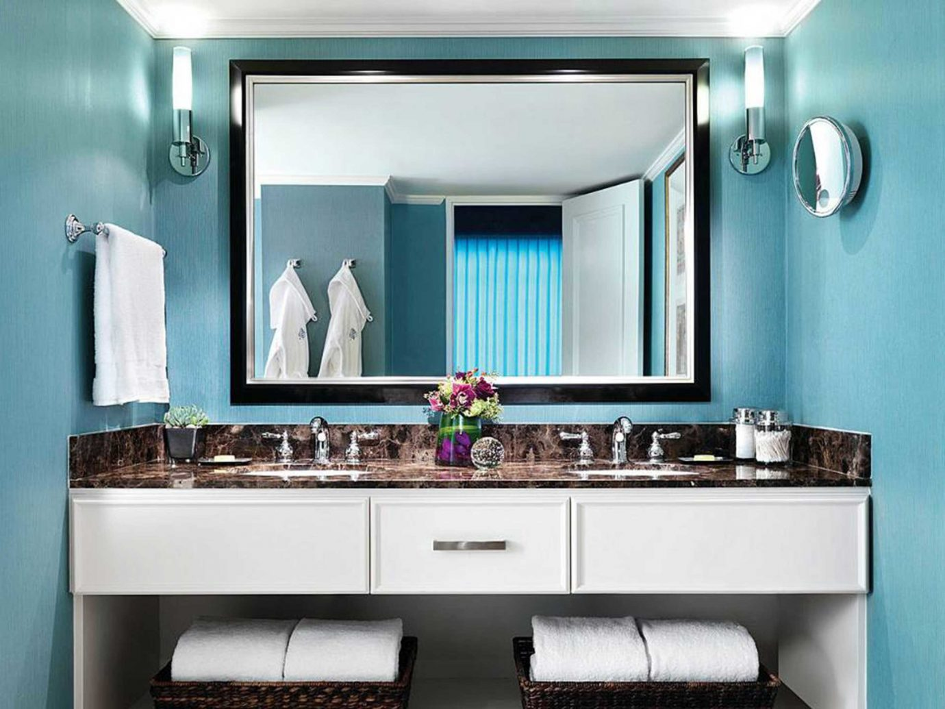 Bath Classic Hotels Living Luxury Resort indoor bathroom wall room mirror property sink Kitchen home cabinetry interior design estate Design living room