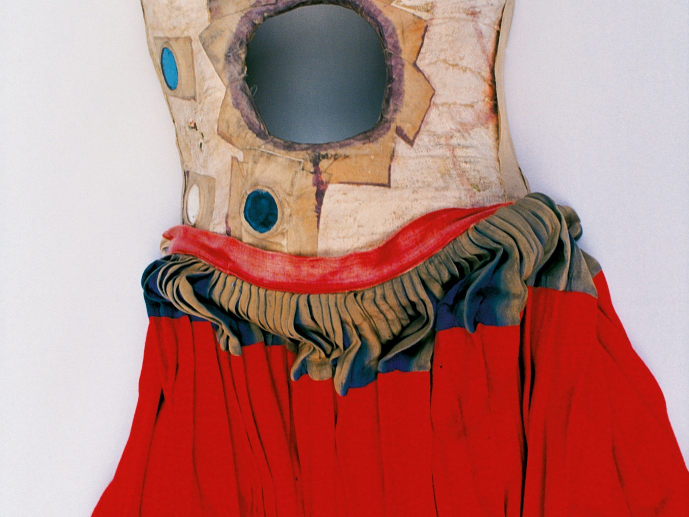 Arts + Culture wall clothing red indoor head costume art dress illustration outerwear