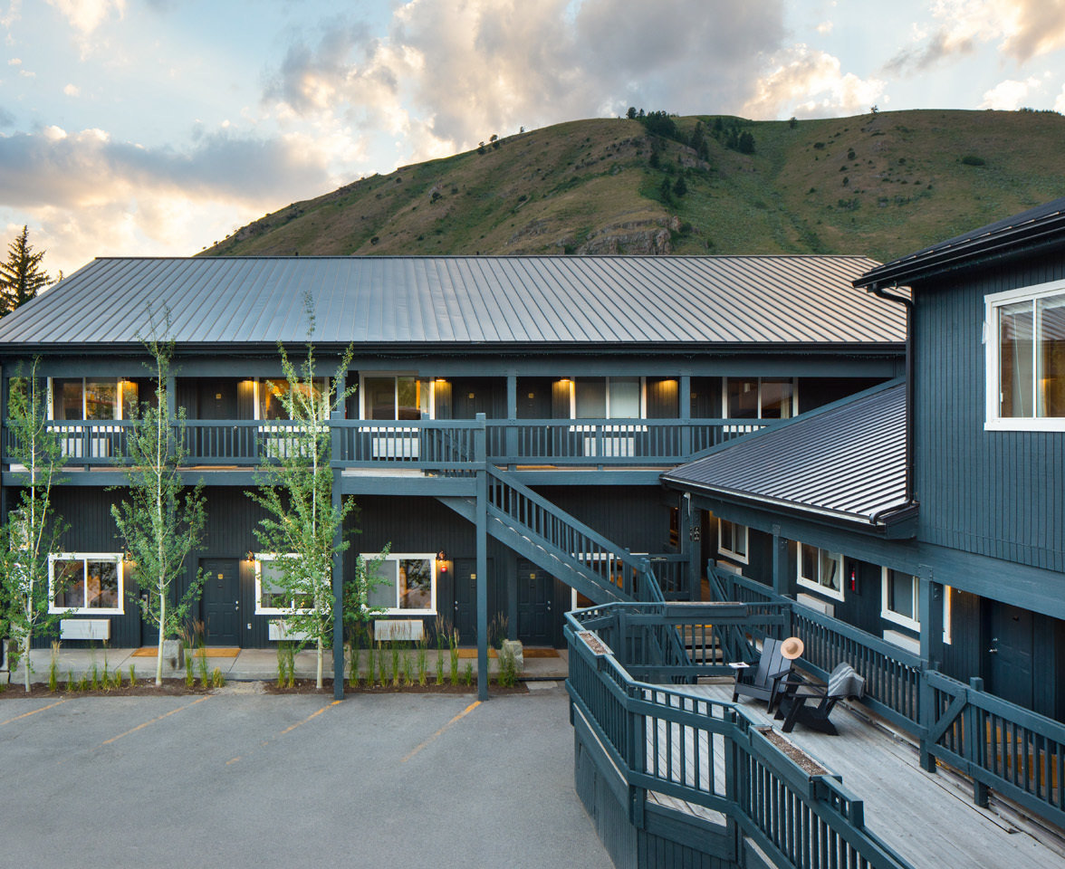 Boutique Hotels Hotels Outdoors + Adventure Road Trips Style + Design Trip Ideas Winter building outdoor sky house home Architecture real estate roof cottage residential area estate facade window apartment siding elevation Inn condominium