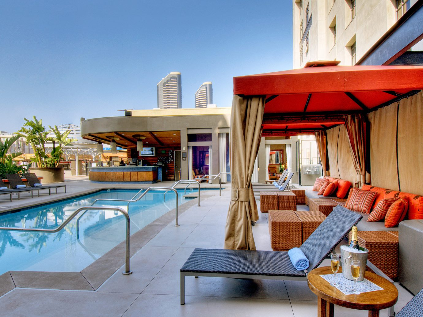 Outdoor Pool At Kimpton Solamar Hotel In Gaslamp District - San Diego
