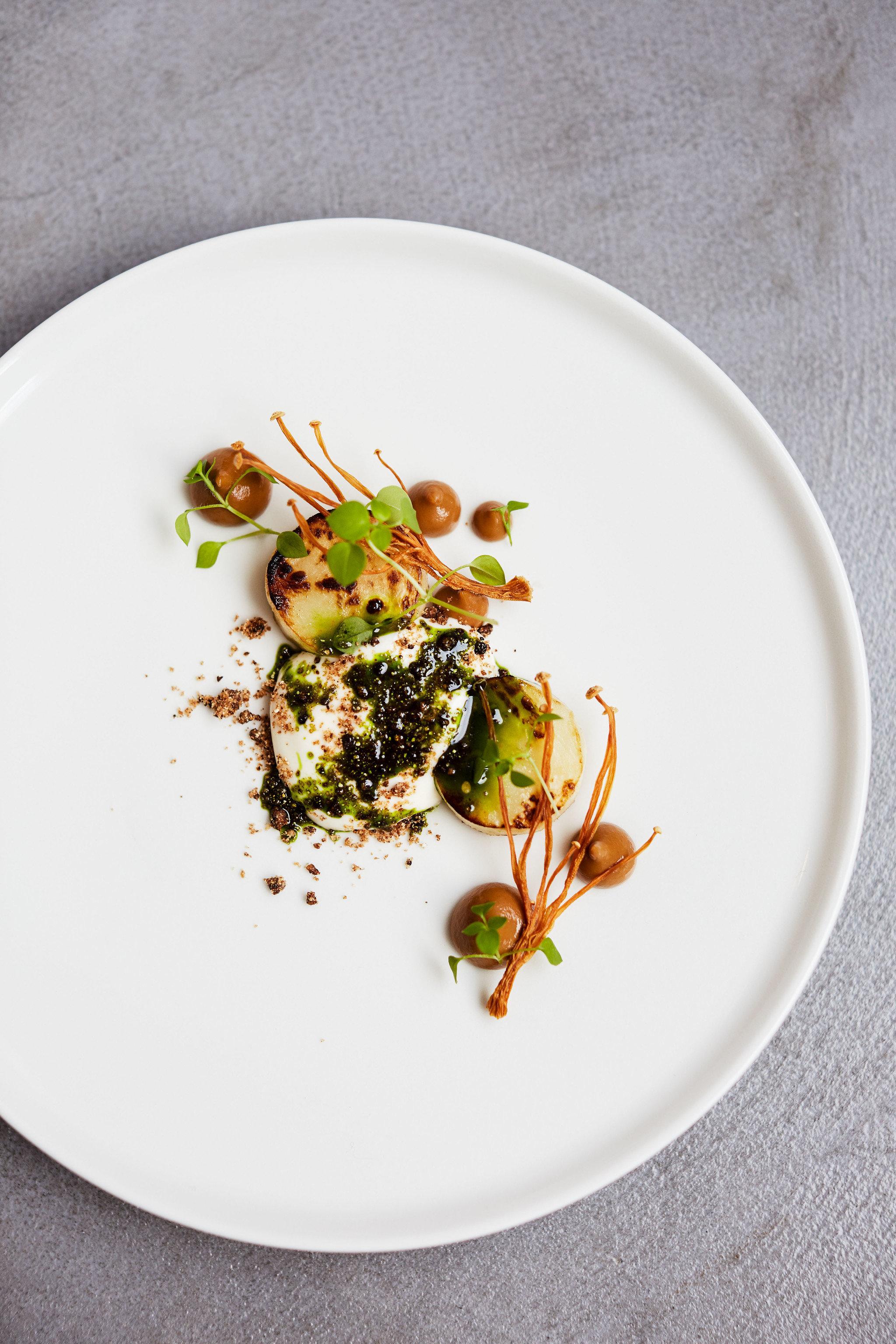 Food + Drink London plate food dish white dishware vegetarian food cuisine appetizer recipe dessert meal meat