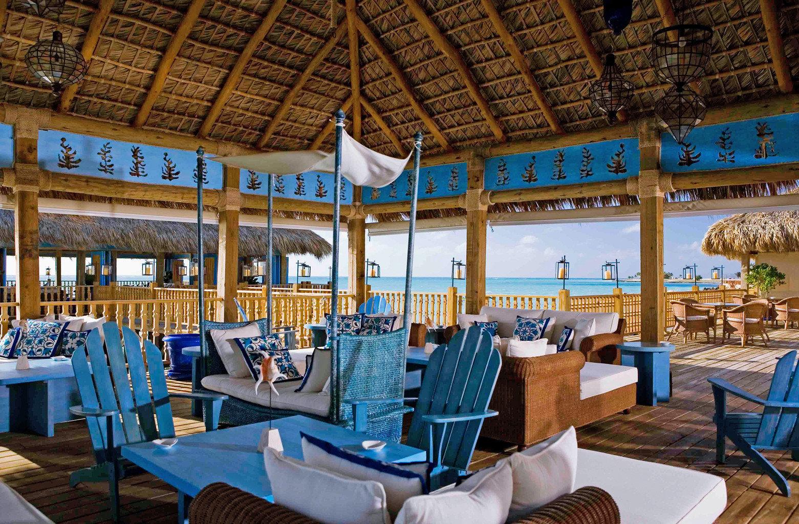 Beachfront Hotels Living Lounge Luxury Modern table chair restaurant Resort estate blue palace meal set