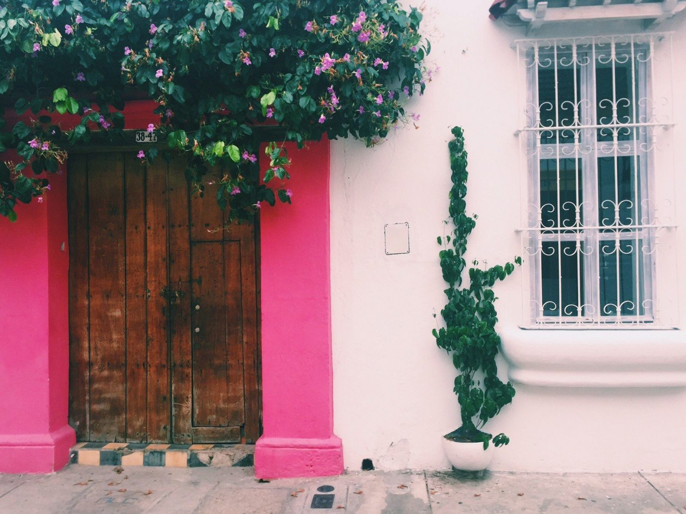 Jetsetter Guides building color red green house wall pink street home spring flower window facade interior design door porch plant painted