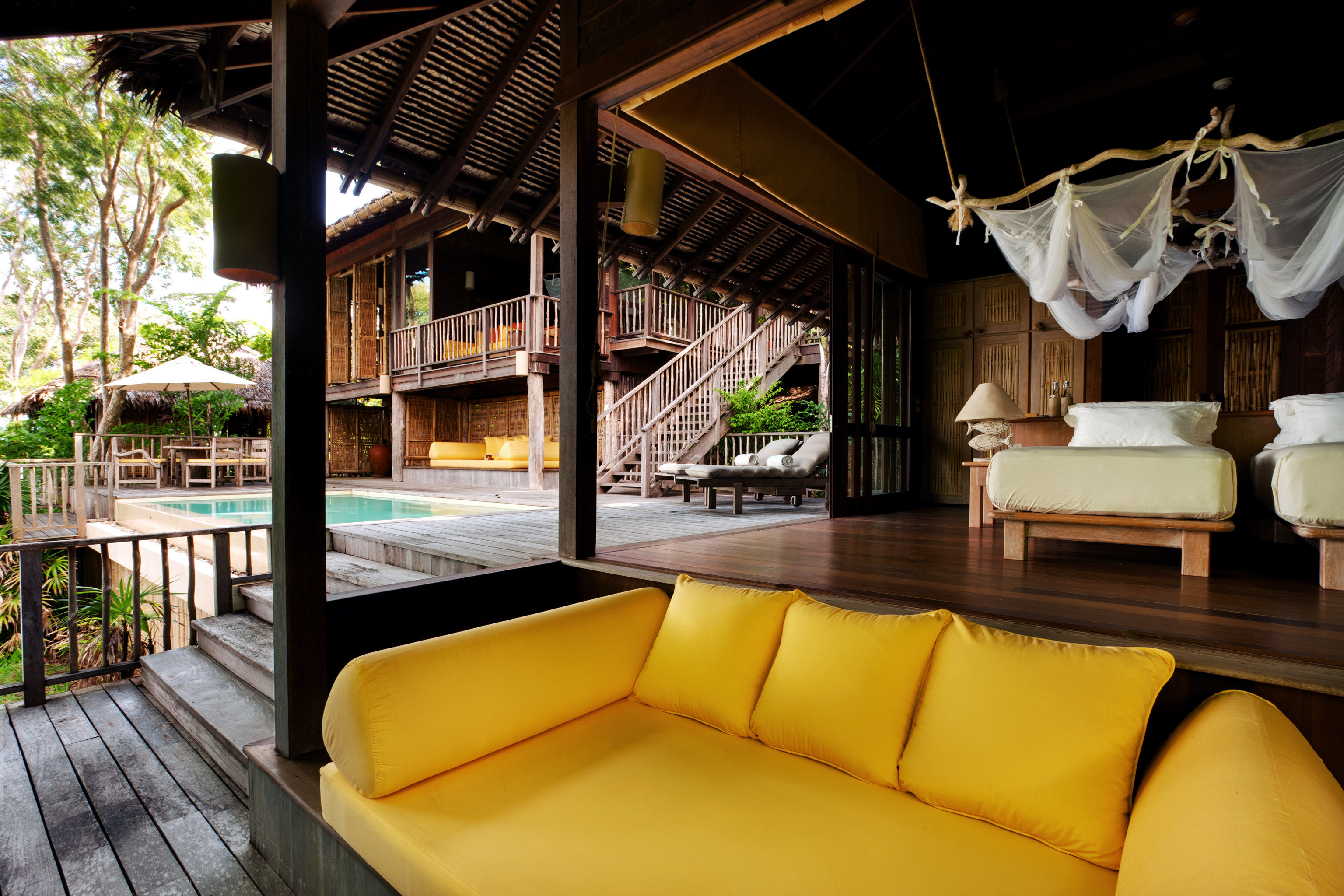 Beach Fitness Hotels Living Lounge Phuket Pool Thailand indoor property Resort room estate Villa vacation interior design eco hotel real estate hacienda mansion area furniture