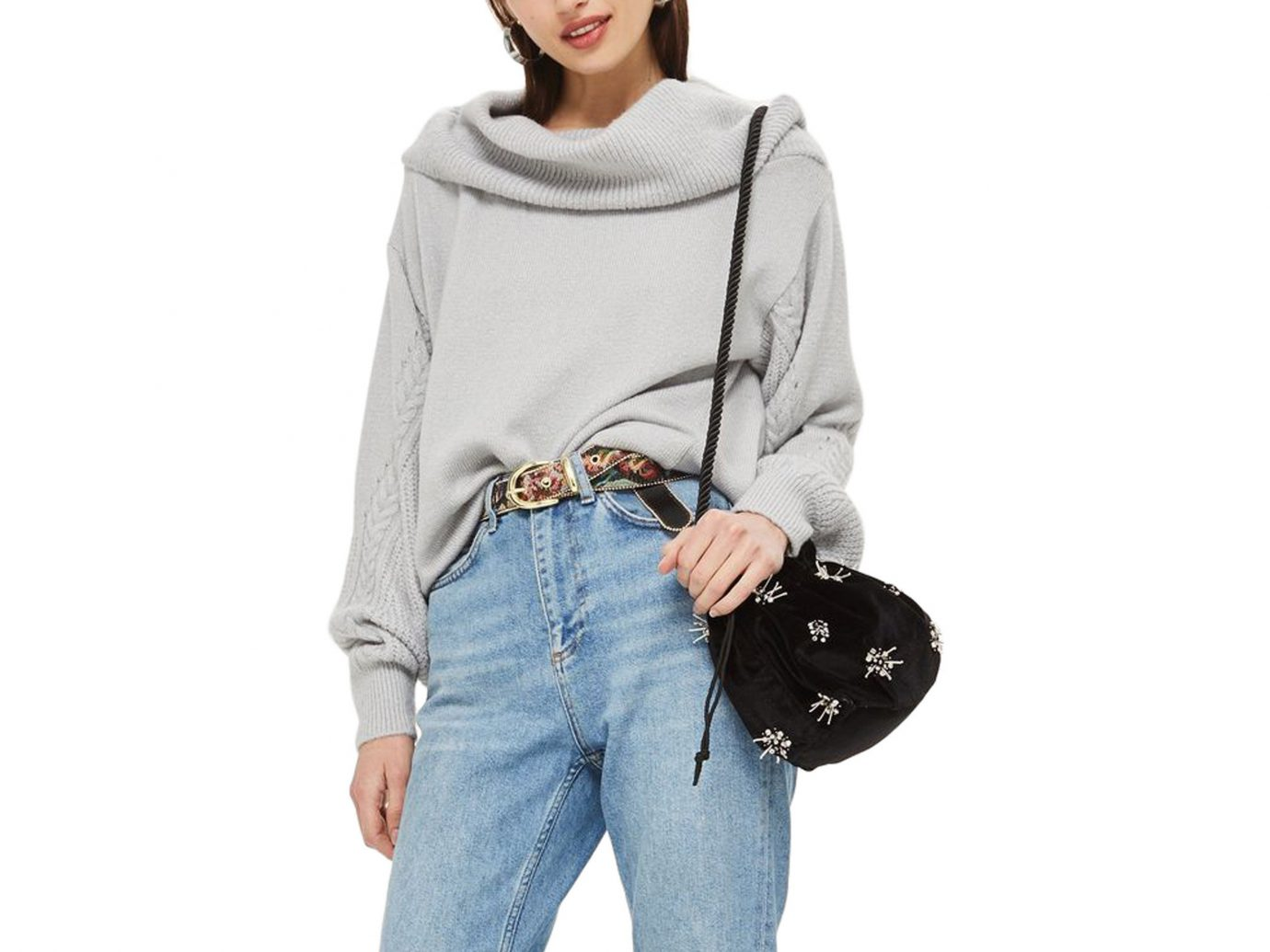 Style + Design Travel Shop person clothing bag shoulder joint sleeve wearing posing pocket standing handbag neck waist zipper jeans product