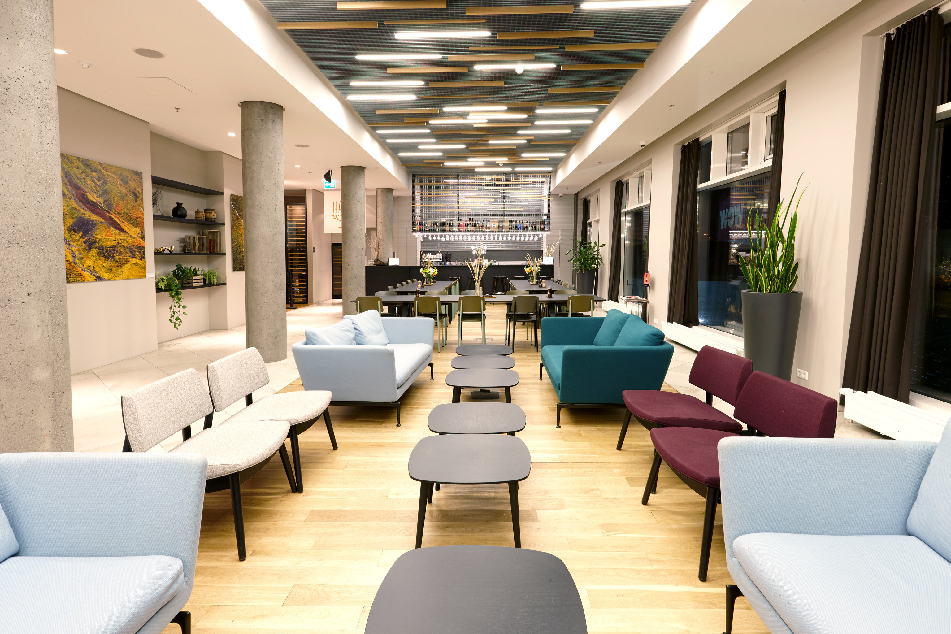 Boutique Hotels Hotels Iceland Reykjavík floor room indoor Living sofa window chair furniture interior design Lobby area