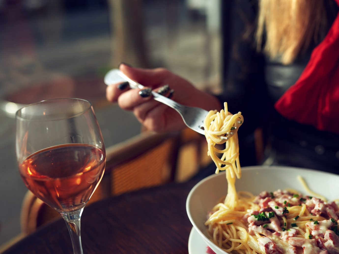 Style + Design person table color food wine woman red meal Drink restaurant sense