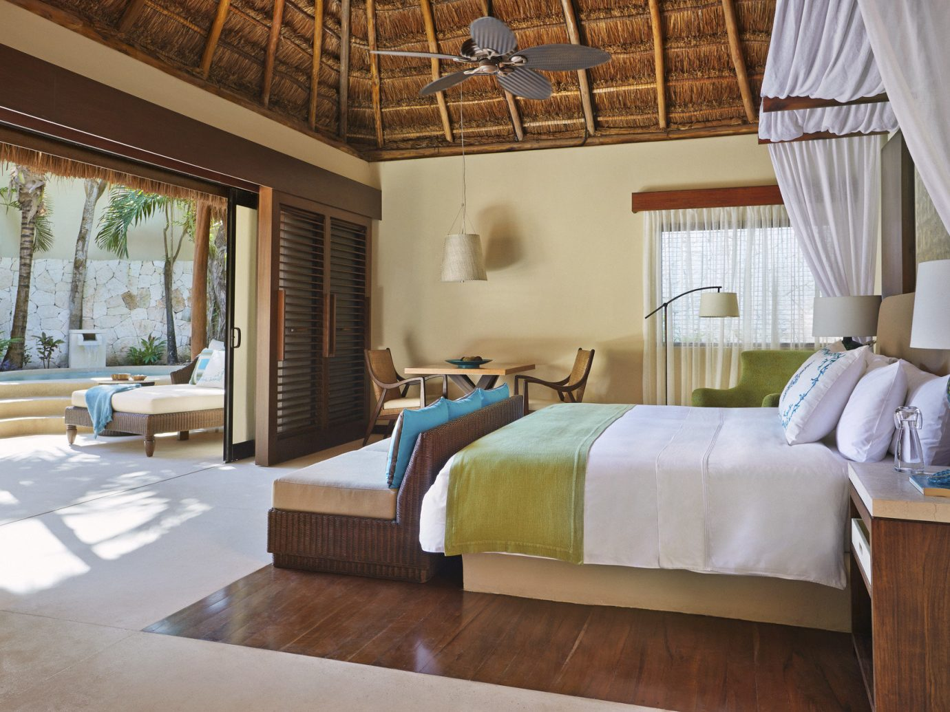 Beach Honeymoon Hotels Mexico Romance Tulum indoor floor room property estate window bed Bedroom home cottage real estate Villa Suite interior design Resort hardwood living room farmhouse furniture decorated