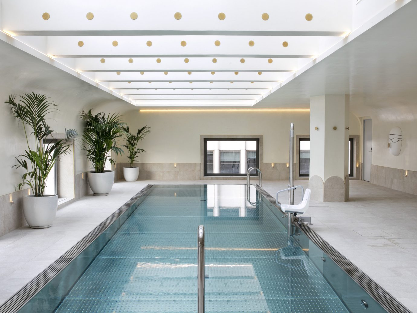 Hotels Madrid Spain indoor ceiling building interior design floor daylighting swimming pool Lobby estate condominium real estate leisure centre apartment amenity hall window furniture area