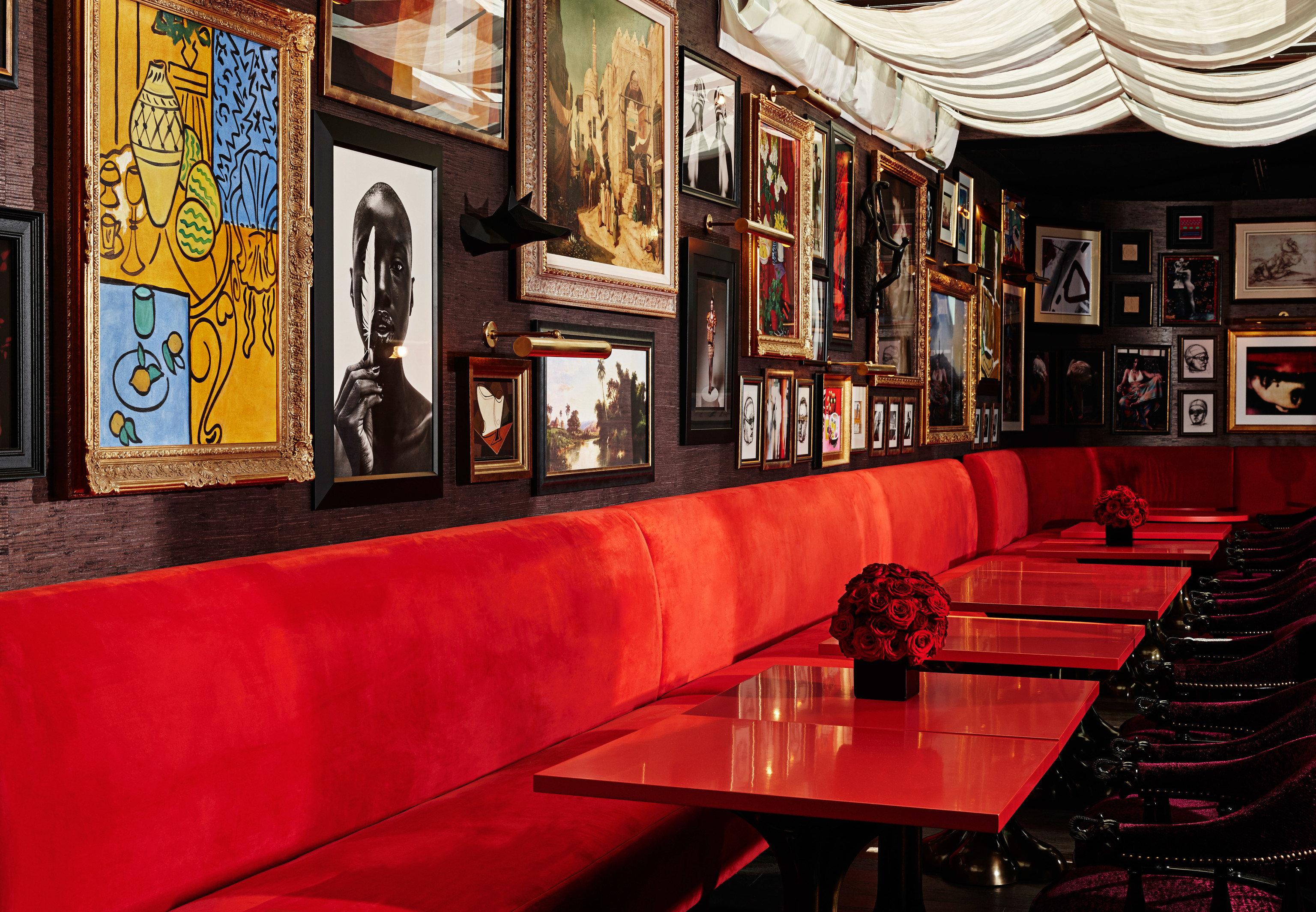 Hotels indoor Bar restaurant red interior design