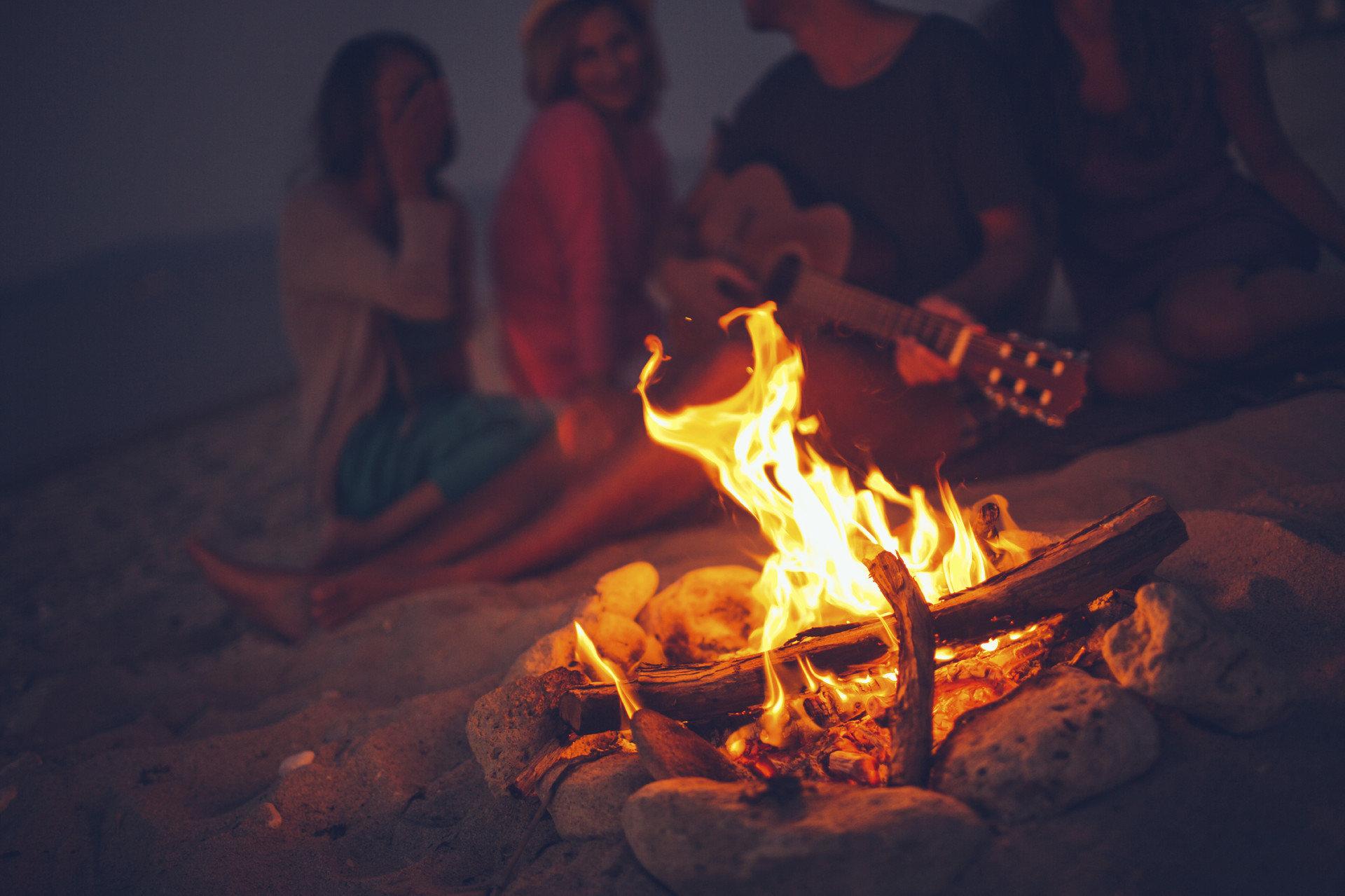 Trip Ideas Nature campfire person fire darkness night flame bonfire