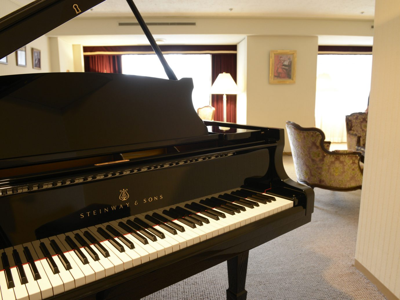 Hotels Japan Tokyo Music piano indoor wall floor musical instrument digital piano string instrument player piano electronic device technology keyboard fortepiano electric piano celesta luxury vehicle musical keyboard electronic instrument computer component clavier furniture