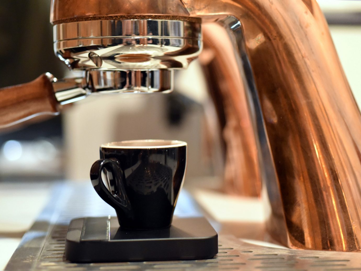 Food + Drink indoor man made object Drink coffee espresso wood close