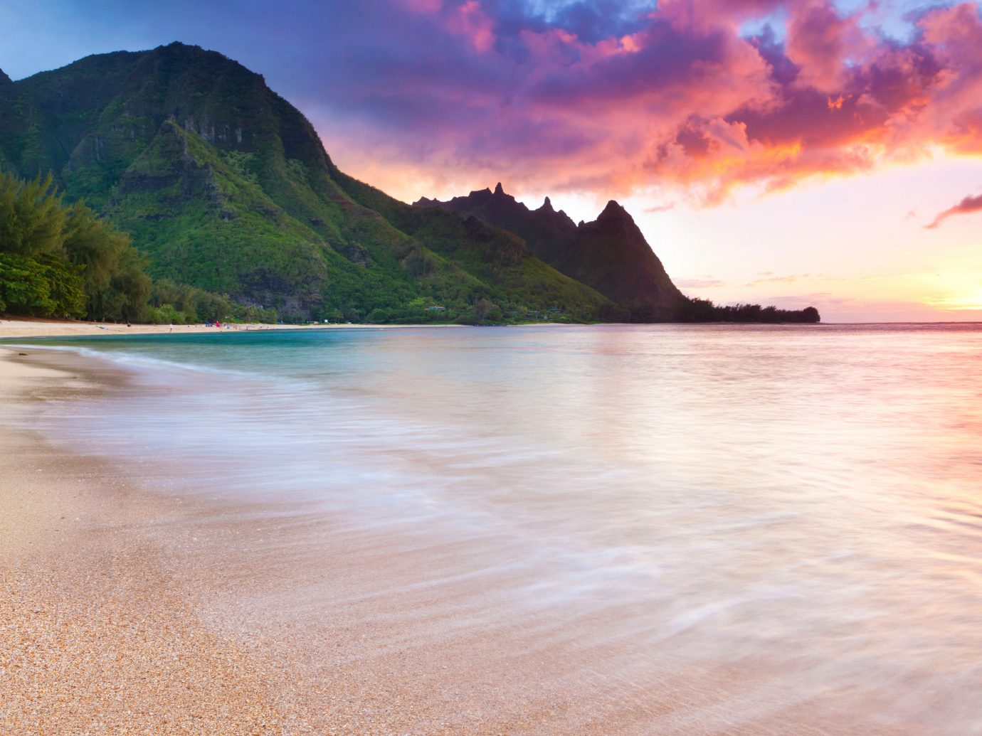 Beach Natural wonders Nature Ocean Offbeat Outdoors Scenic views Sunset outdoor water mountain shore Sea Coast body of water horizon cloud morning bay sunrise dawn reflection dusk loch wave sand terrain Lake distance highland