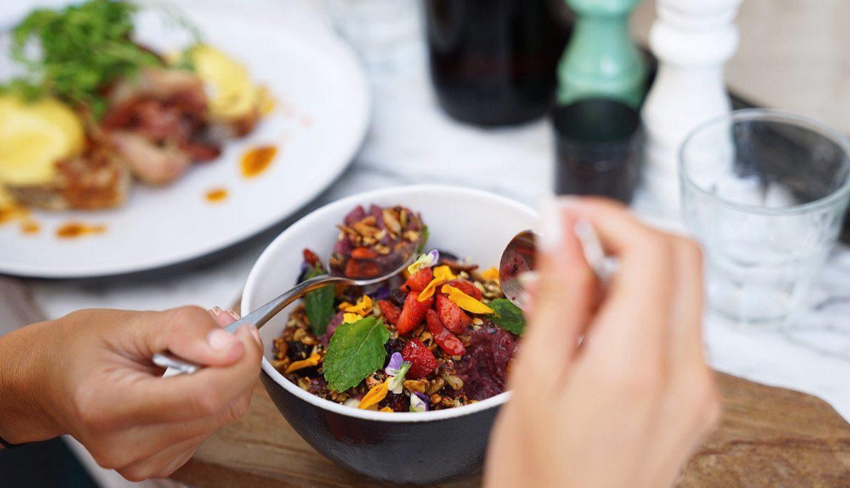 Food + Drink plate dish food person meal cuisine vegetarian food lunch recipe vegetable brunch asian food meat snack food