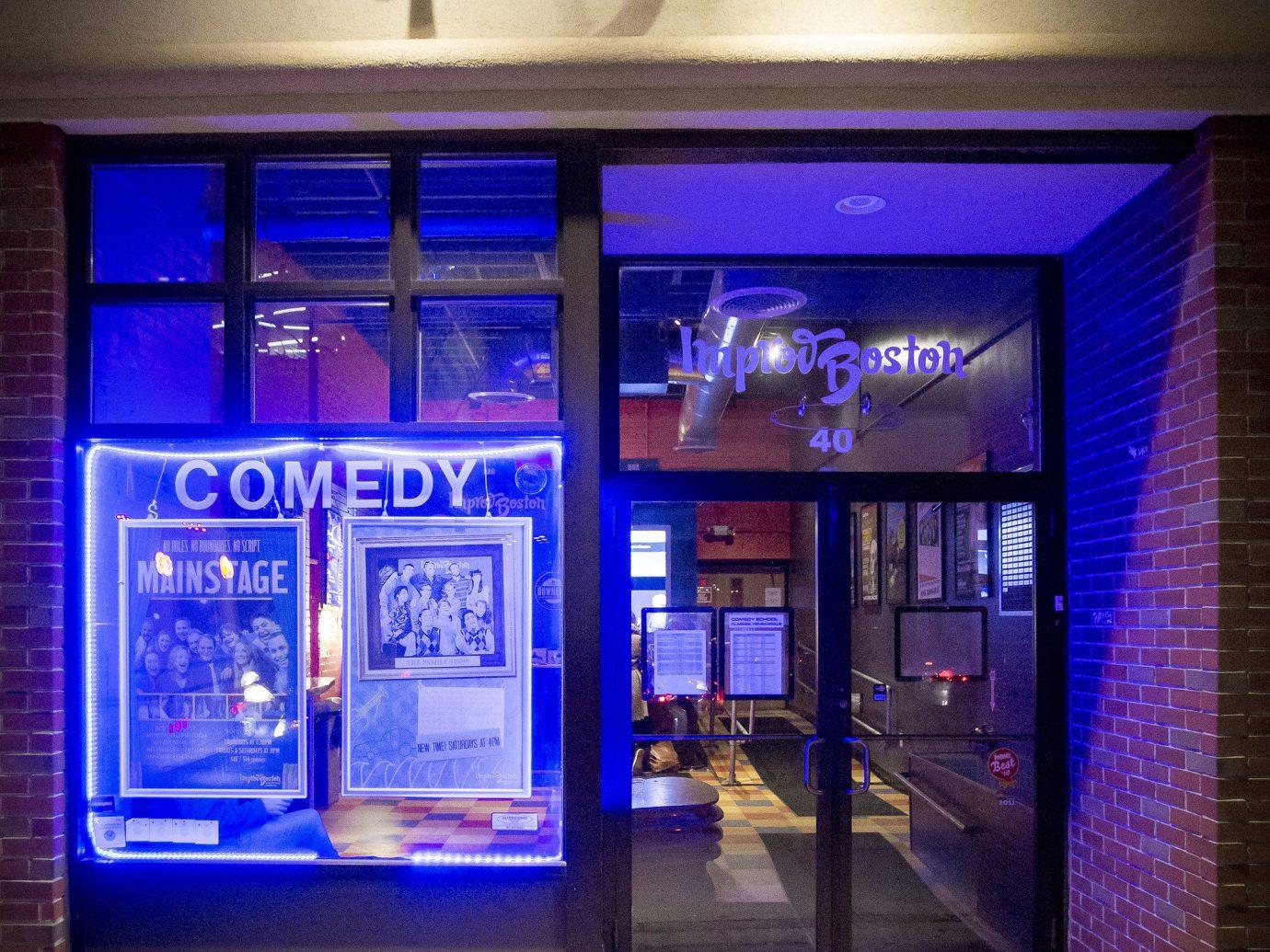Trip Ideas blue night interior design restaurant signage Bar