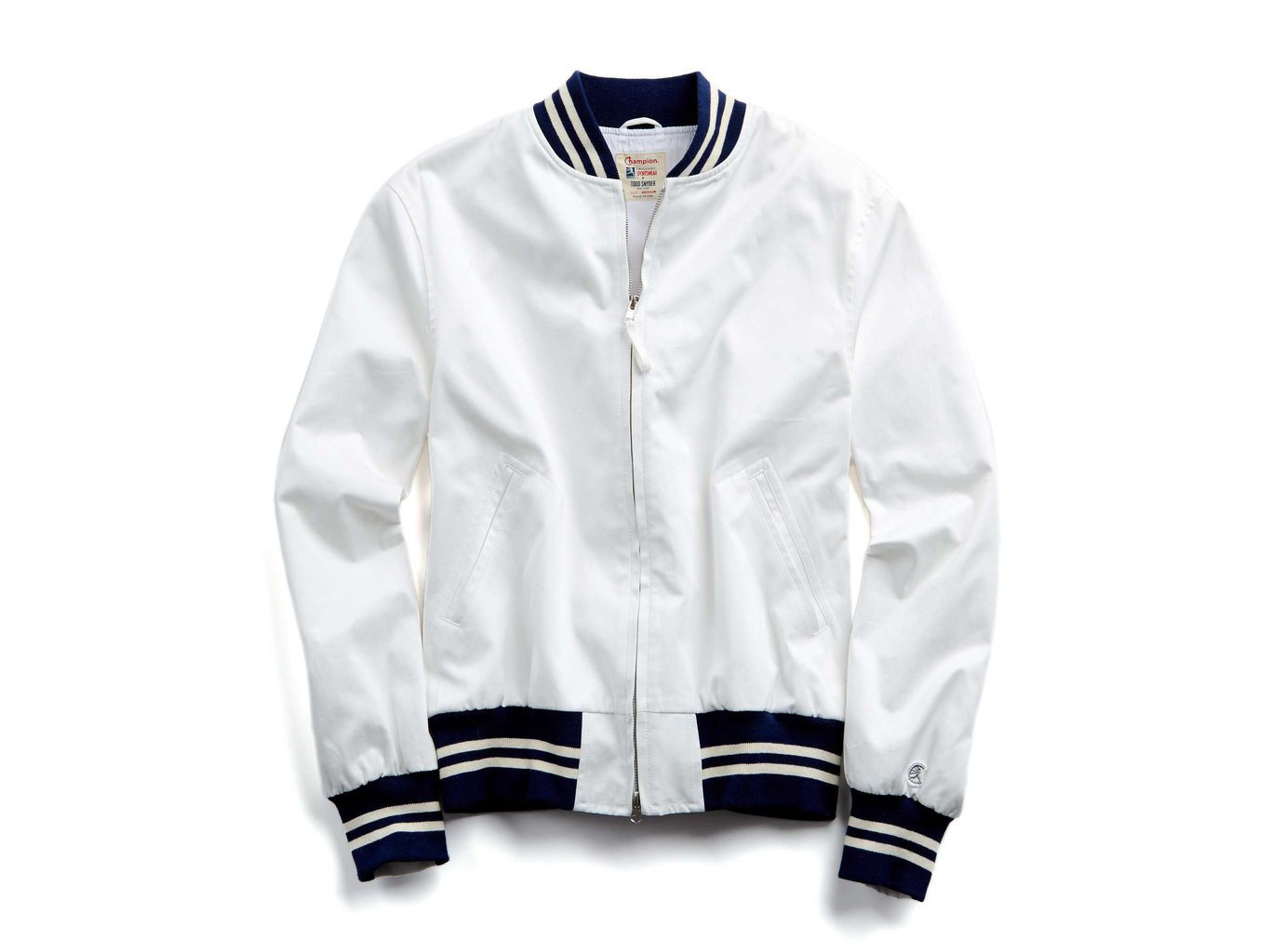 white jacket sleeve outerwear collar product hood sports uniform
