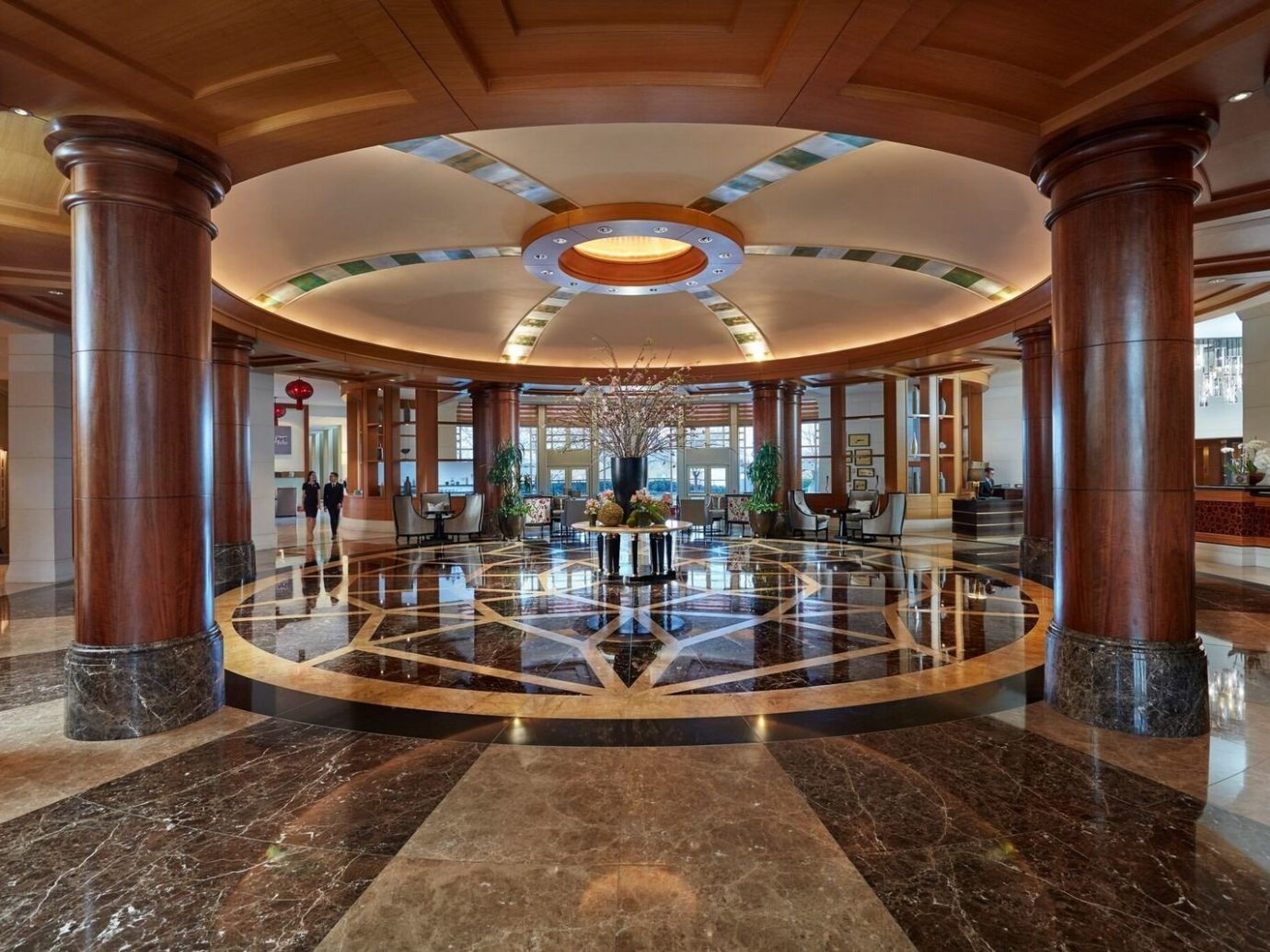 Hotels ceiling indoor Lobby building estate interior design real estate hall furniture