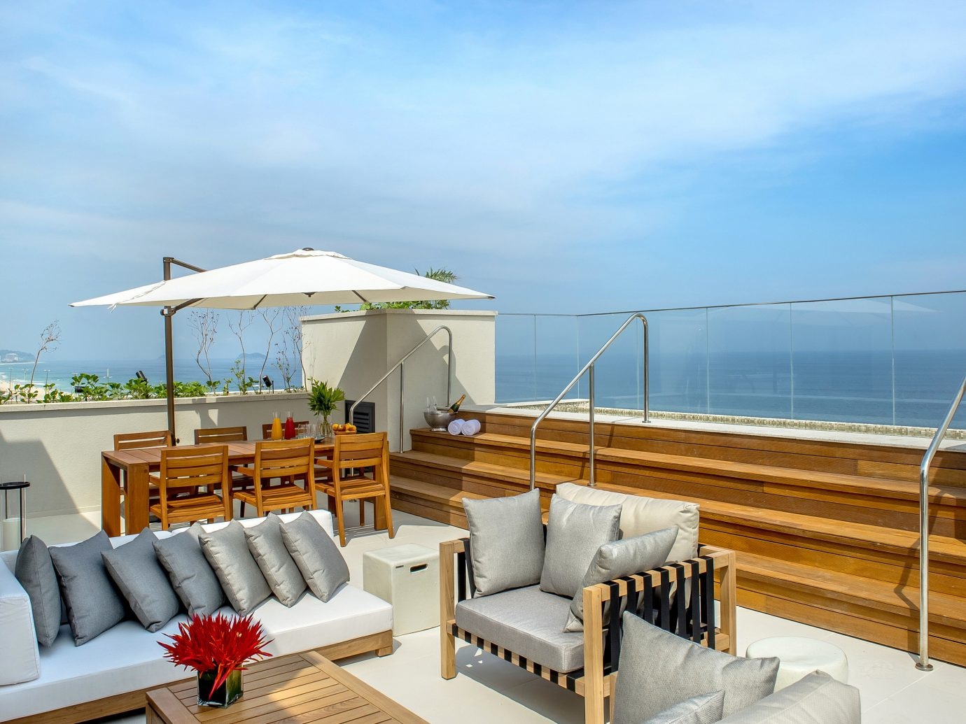 Hotels Romance sky Living indoor property room real estate penthouse apartment apartment Resort vacation Deck Sea outdoor structure Balcony condominium sunlounger outdoor furniture roof estate furniture Villa